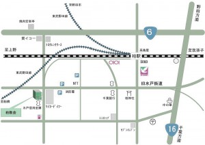 柏教会への地図